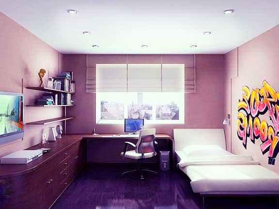мебель в комнате для молодого человека