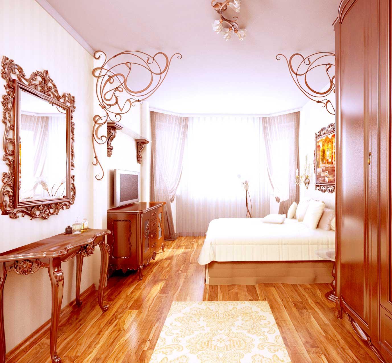 классический интерьер комнаты для девушки