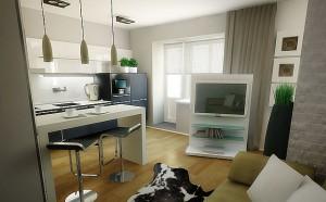интерьер обычной квартиры студии