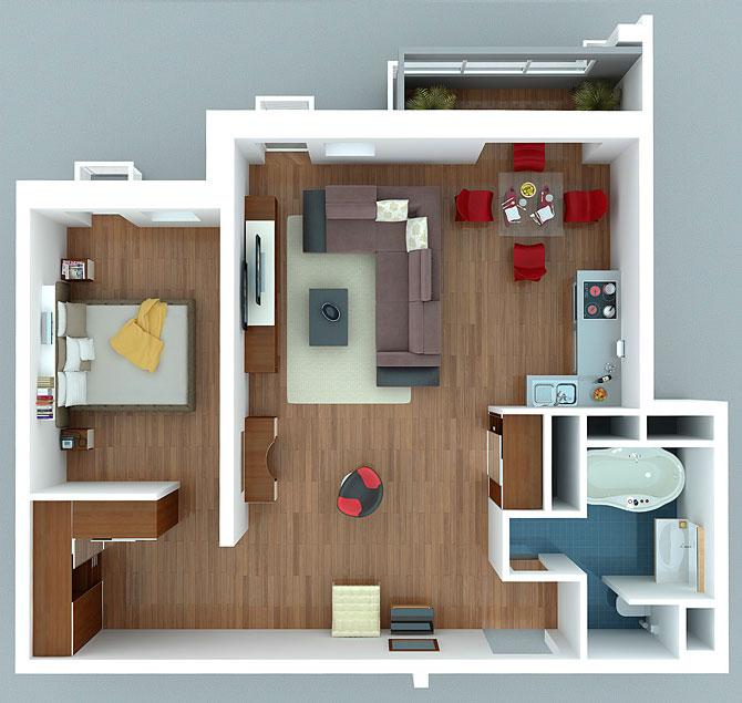 фото планировки квартиры студии