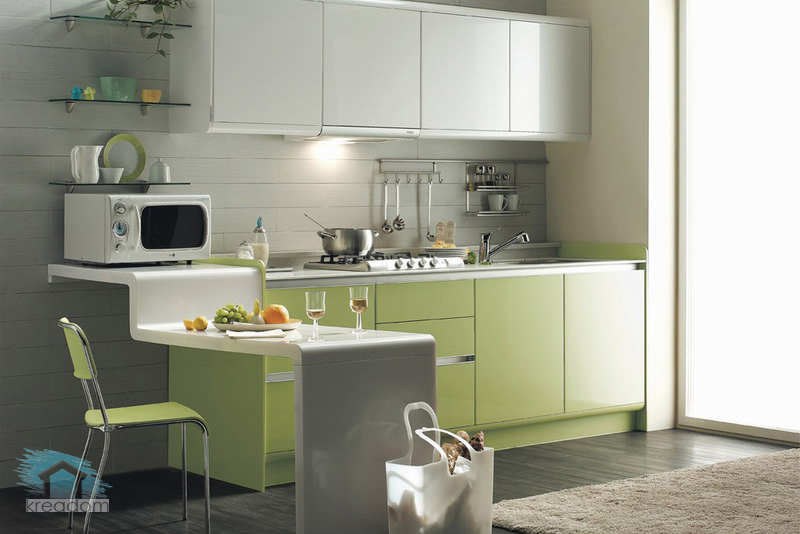 Дизайн в кухни в трехкомнатной квартире