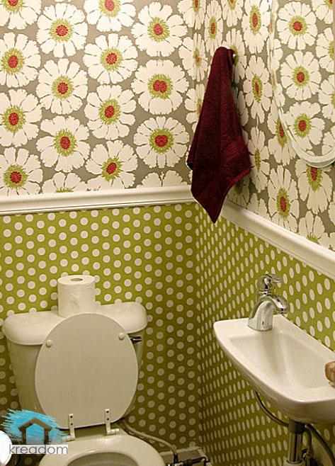 Ремонт в туалете обоями своими руками фото