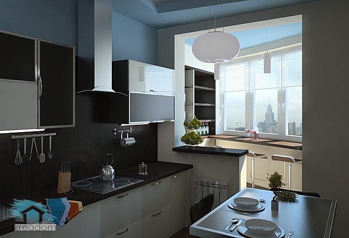 дизайн маленькой кухни в однушке