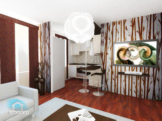 современный стиль гостиной в хрущевке