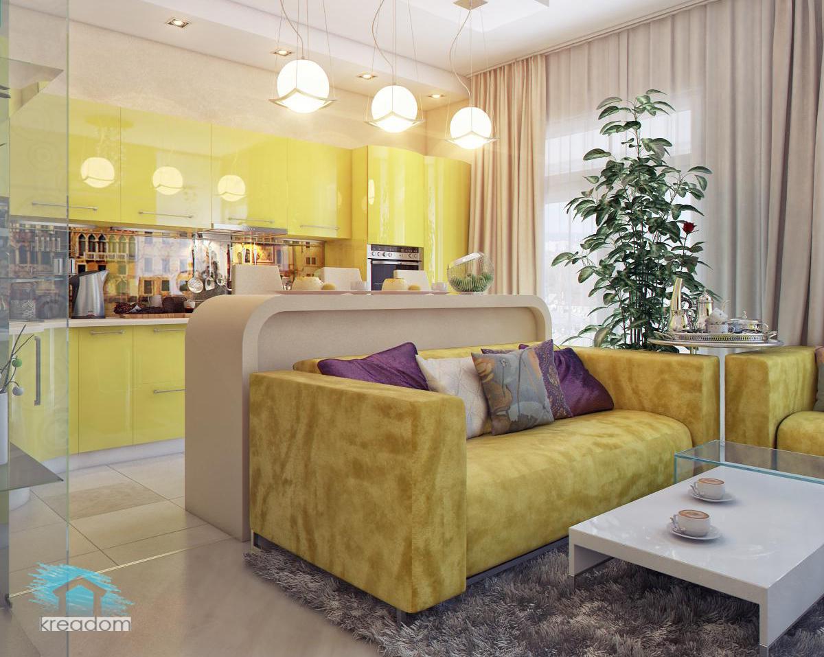 Идеи как объединить кухню с гостиной 28