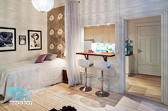 решение спальни в малогабаритной квартире