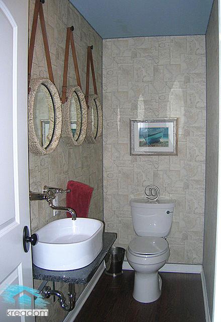 дизайн туалета с умывальником