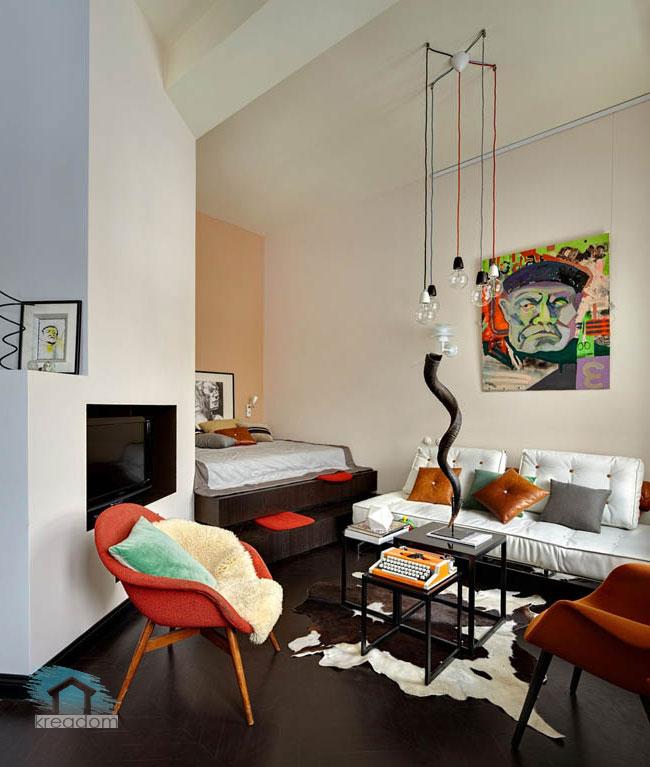 дизайн маленькой гостиной и спальни