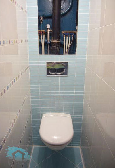 туалет со скрытым бачком в стене