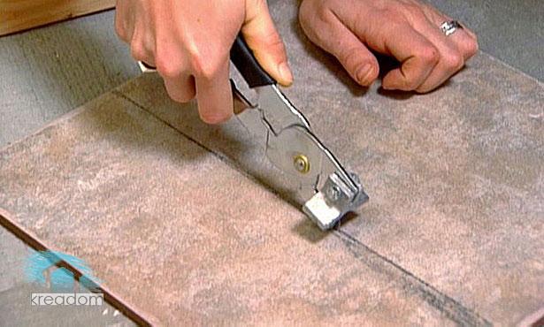 порезка плитки инструментом