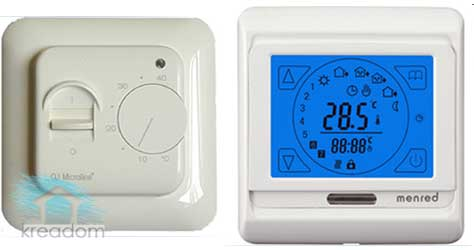ручной и сенсорный терморегуляторы