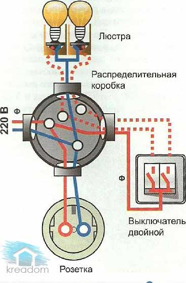 схема-распределениия-проводов-в-коробке