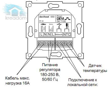 устроиство терморегулятора