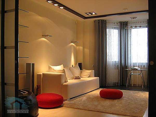 освещение в гостиной 18 кв м