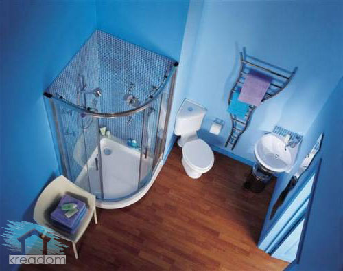 интерьер туалета и ванной комнаты