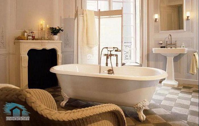 классический стиль в интерьере ванной
