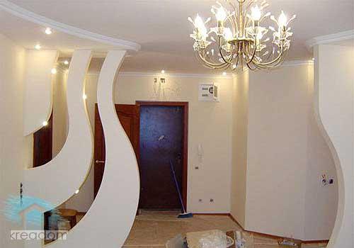 конструкции из гипсокартона в интерьере