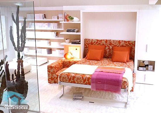 стеклянная перегородка в спальне гостиной