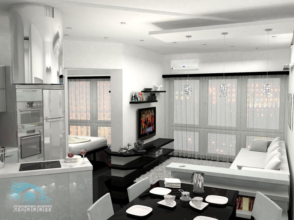 фотоо дизайна однокомнатной квартиры