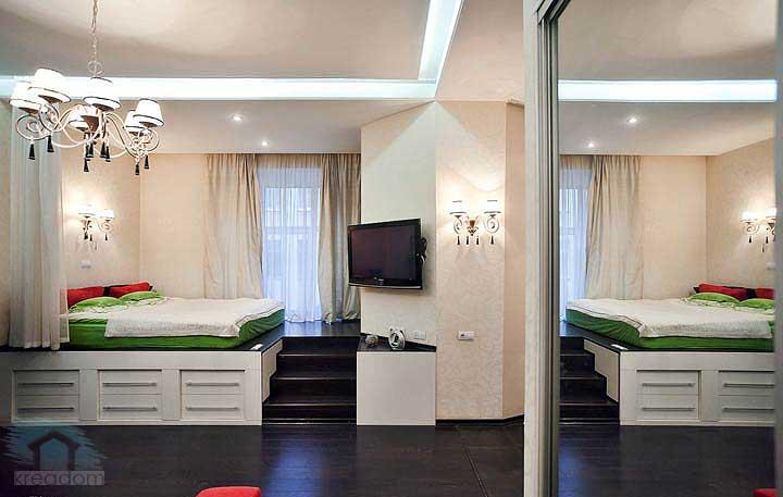 рациональное деление комнаты на зоны