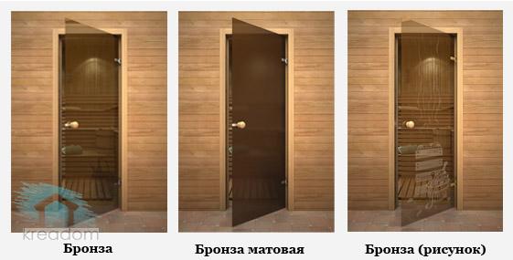 варианты стеклянных дверей