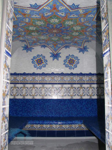отделка интерьера турецкой бани мозаикой