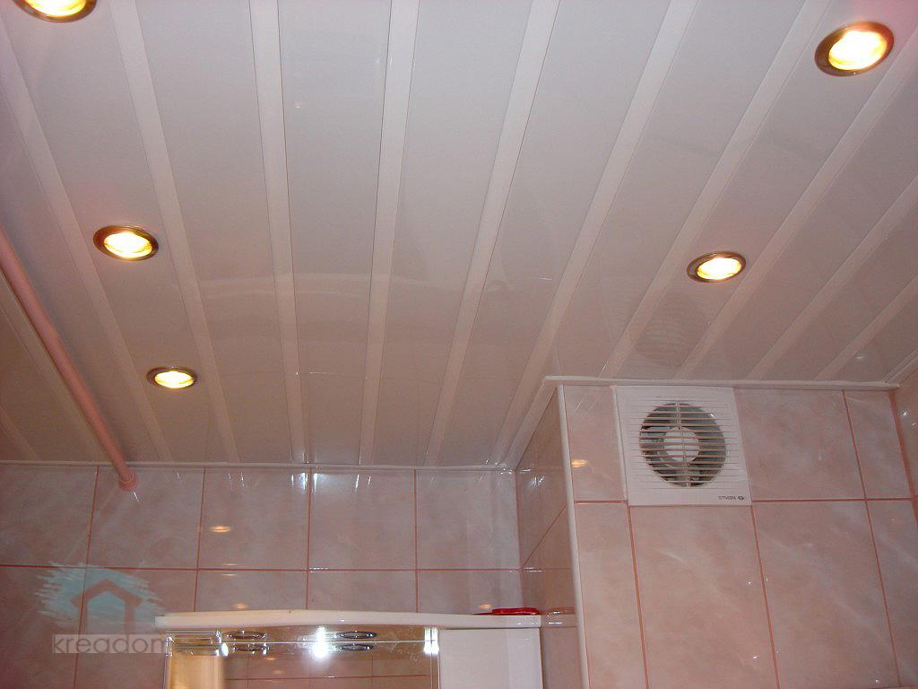 Как сделать реечный потолок в ванной комнате? Фото