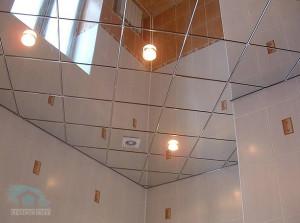 потолочные плиты в ванной комнате