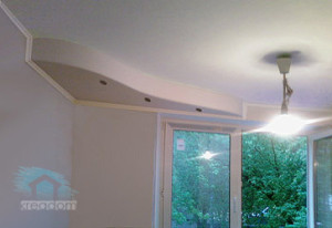 двохуровневый потолок в хрущевке