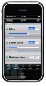 дистанционное управление с помощью телефона