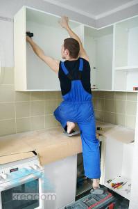 монтаж кухонных ящиков