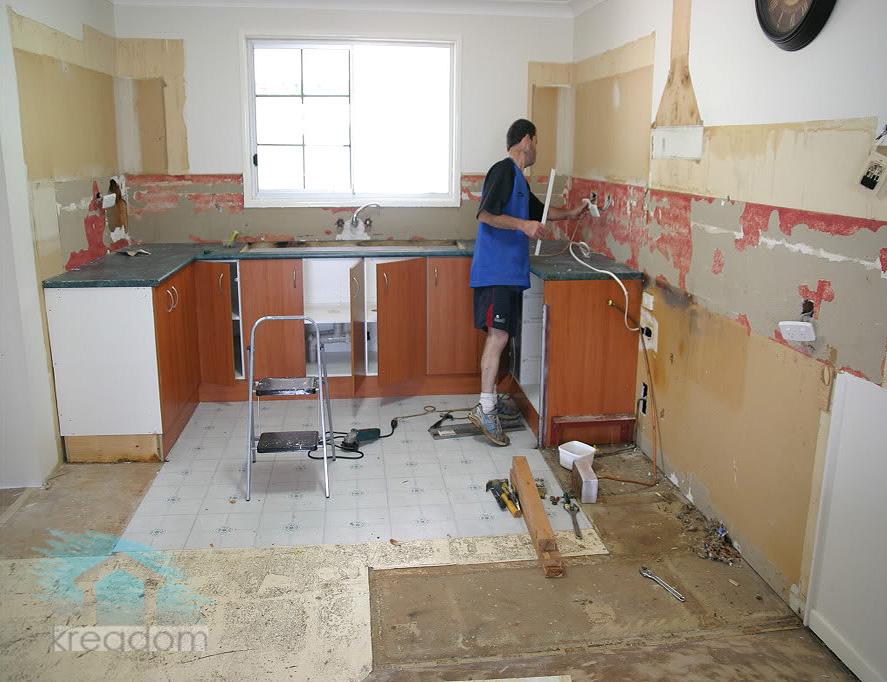 Как сделать на кухне не недорогой ремонт в