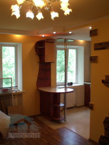 ремонт кухни совмещенной с гостиной