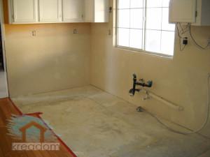ремонт стен и пола на кухне
