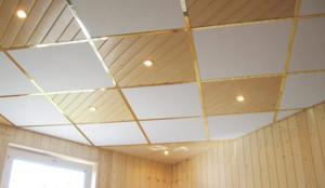 Потолок из минераловолокнистых плит
