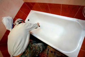 Подготовительные работы по восстановлению чугунных ванн