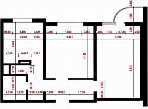 Пример схемы квартиры