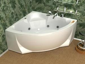 Сидячая акриловая ванна