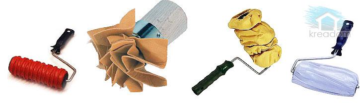 валики для нанесения рельефа на стены