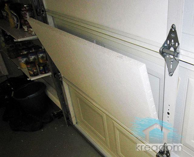 утепление пенопластом гаражных ворот