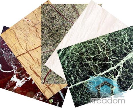 Облицовка мрамором: отделка стен и камина, имитация камня своими руками