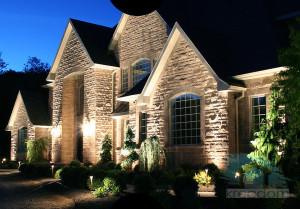 архитектурная подсветка дома