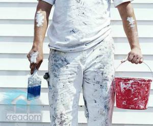 окраска наружных стен деревянного дома