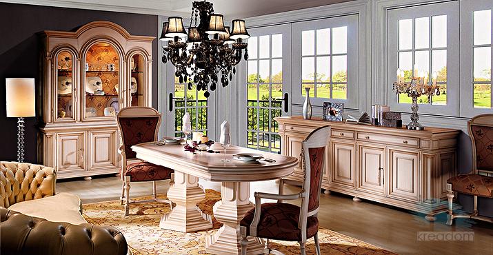 классическая мебель из массива для гостиной