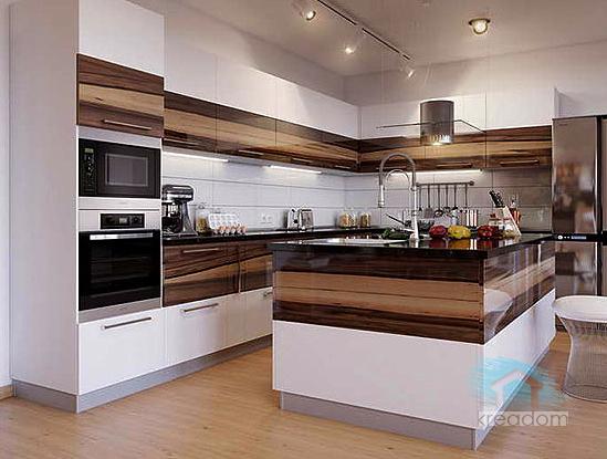 плитка белая на кухне